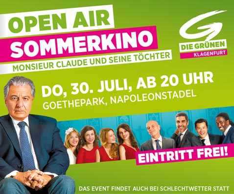 Open Air Sommerkino am 30. Juli im Göthepark